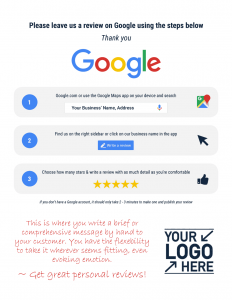 Google RR Do It Yourself Custom Review Reminder