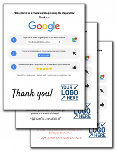 "Google RR Package Including the ""Thank You"", ""Scripted"" & ""Do It Yourself"""