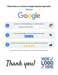Google RR Thank You Custom Review Reminder
