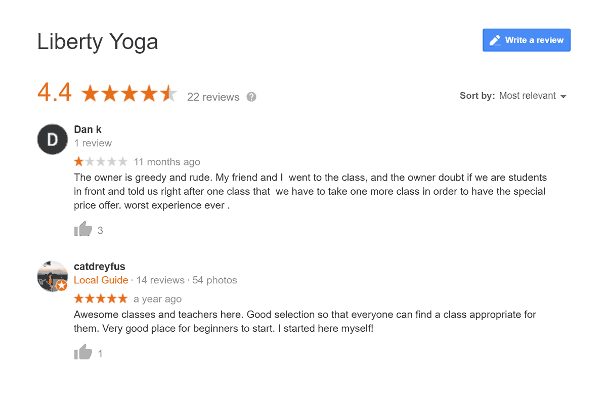 Liberty Yoga Case Study Before