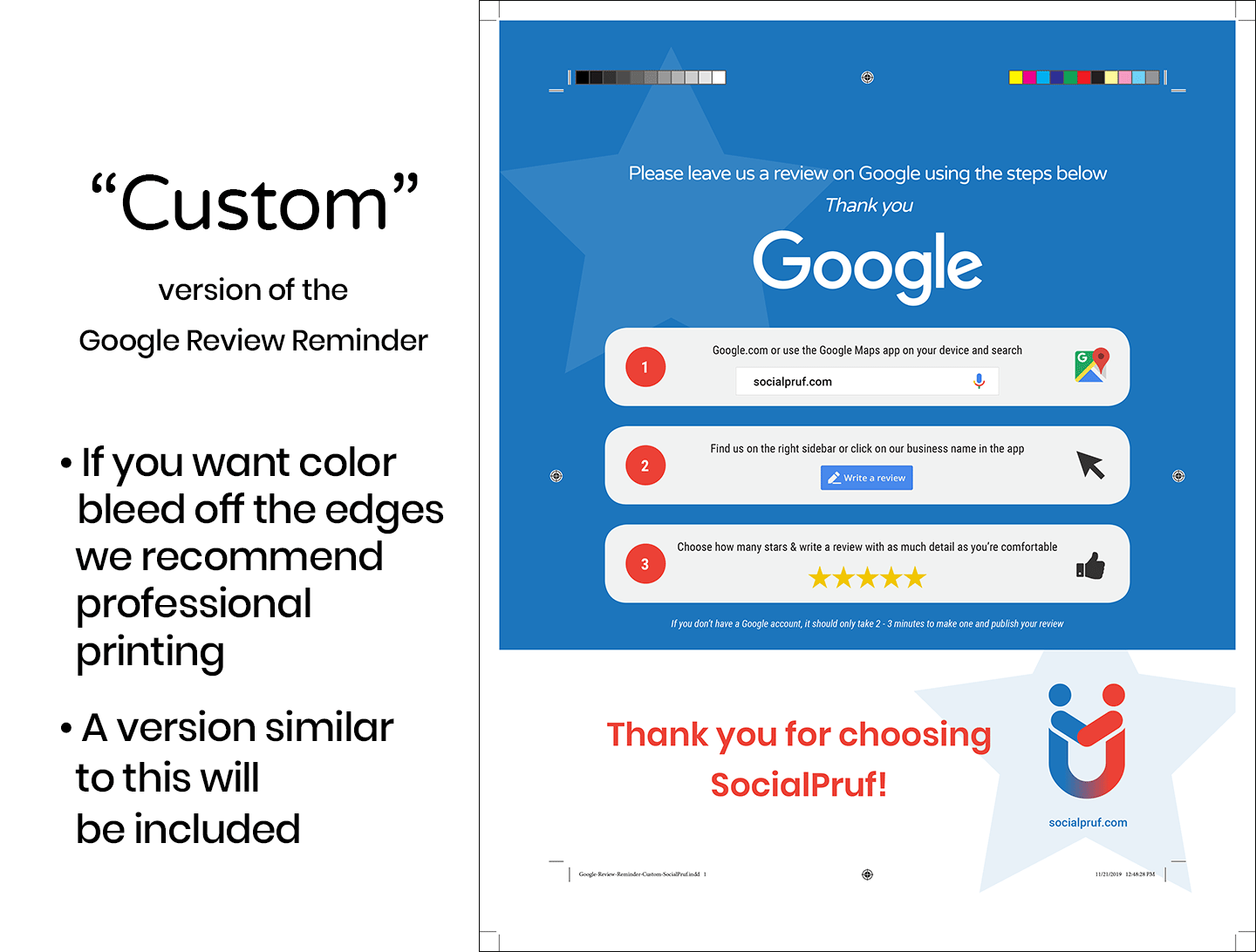 "Google Review Reminder - ""Custom"" - 2"