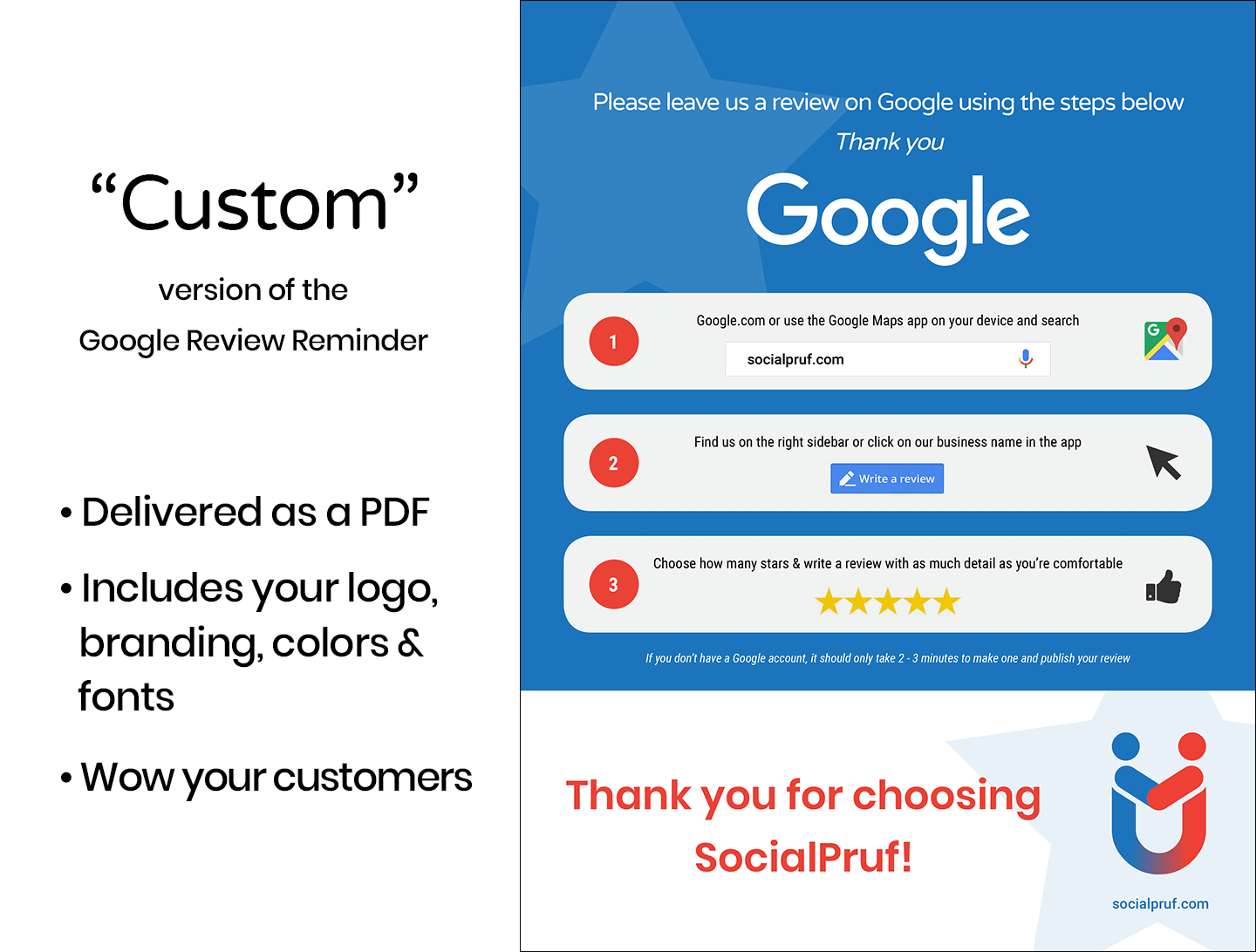"Google Review Reminder - ""Custom"" - 1"