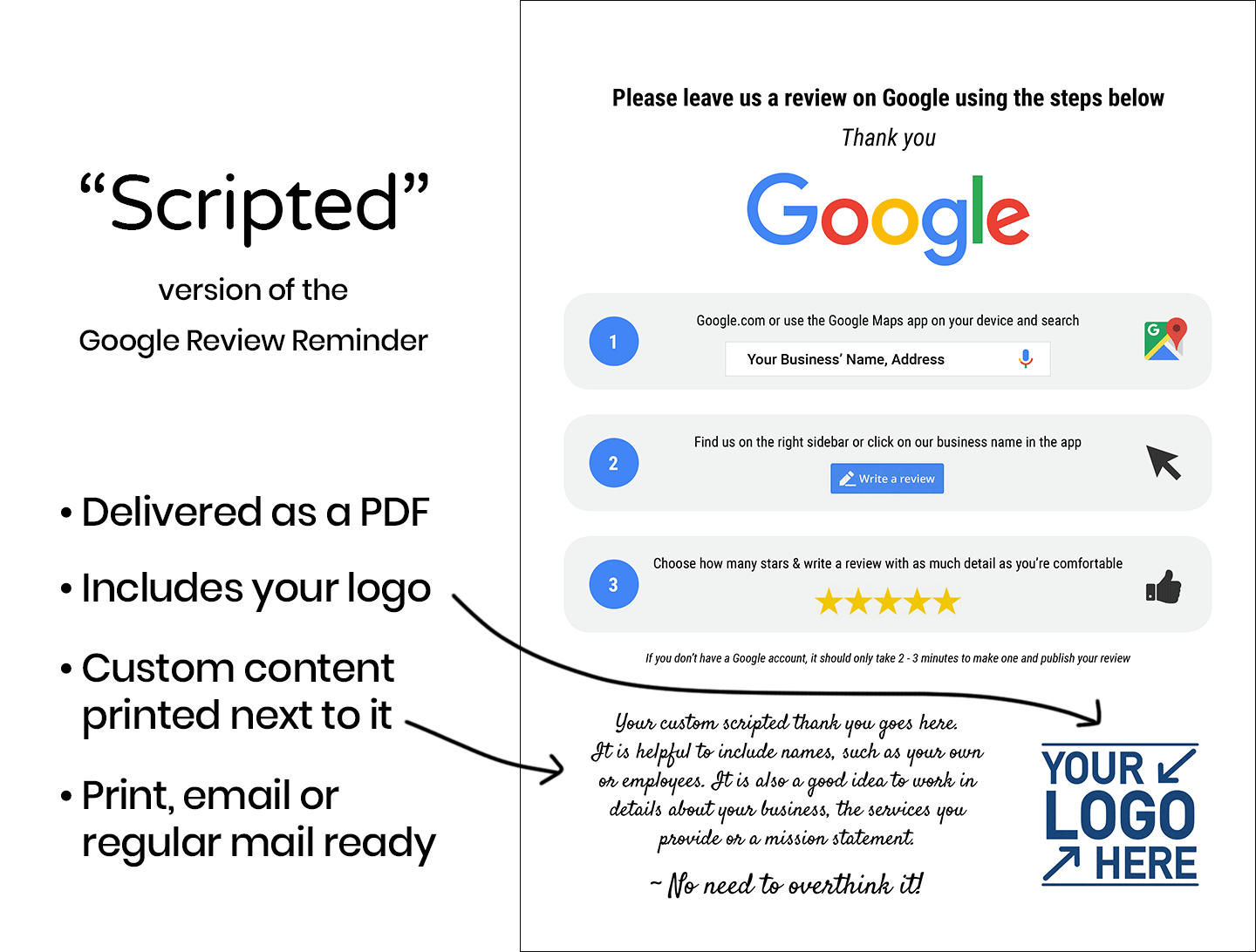 Google Review Reminder Scripted Tab Graphic